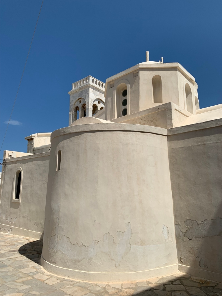 Typical building--WHITE!--in Naxos