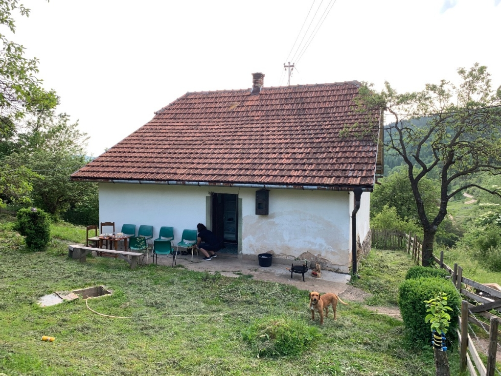Cottage of locals who shared coffee, beer, and sausages.