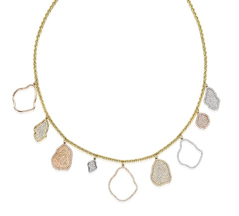 Kimberly McDonald charm necklace in 18k gold with diamonds