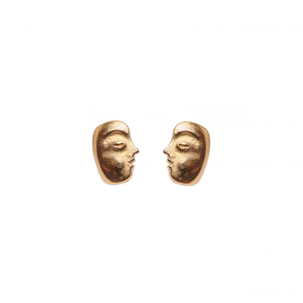 Big Sleep Face studs in 18k rose gold, $800; Alex Sepkus at Style by Max