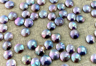 Mini mabé pearls are about the size of a pinky nail and cost $75 apiece triple keystone; find them today at Perlas Del Mar De Cortez at booth 508 in GJX or email doug.mclaurin@outlook.com.