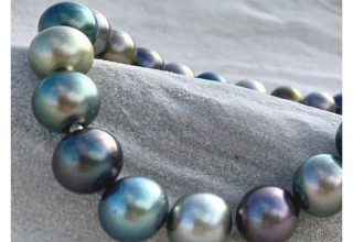 Marutea pearl jewelry starts at €495 for a cord bracelet and strands start at €1,500 retail, topping out around €100,000.