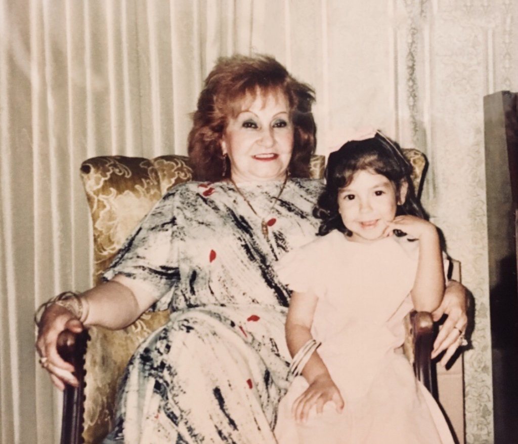 Ale Weston as a child with her grandmother