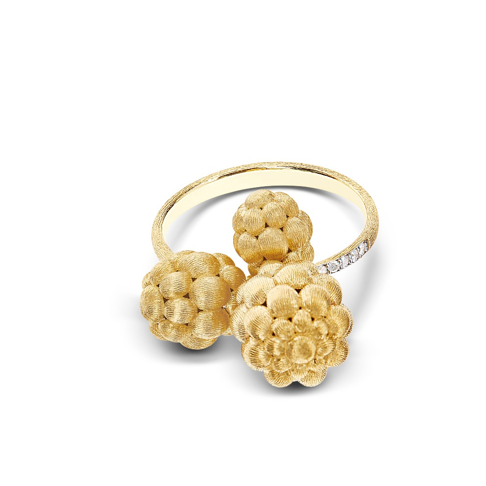 Morette ring in 18k yellow gold with diamond accents, $1,710; email chiara.matteazzi@nanis.it for purchase
