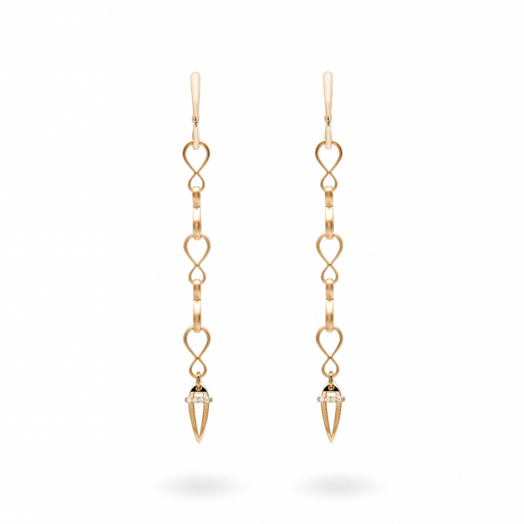 Anniversary 100 earrings in 18k gold, $6,780; email tatiana.tonizzo@antonini.it for purchase