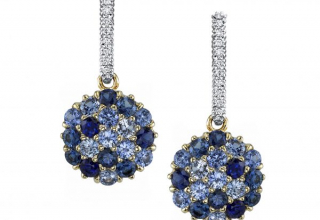 Ombré drop earrings in 18k white and yellow gold with 4.17 cts. t.w. sapphires and 0.07 ct. t.w. diamonds, $7,390; by Aaron Henry and available online at Max's