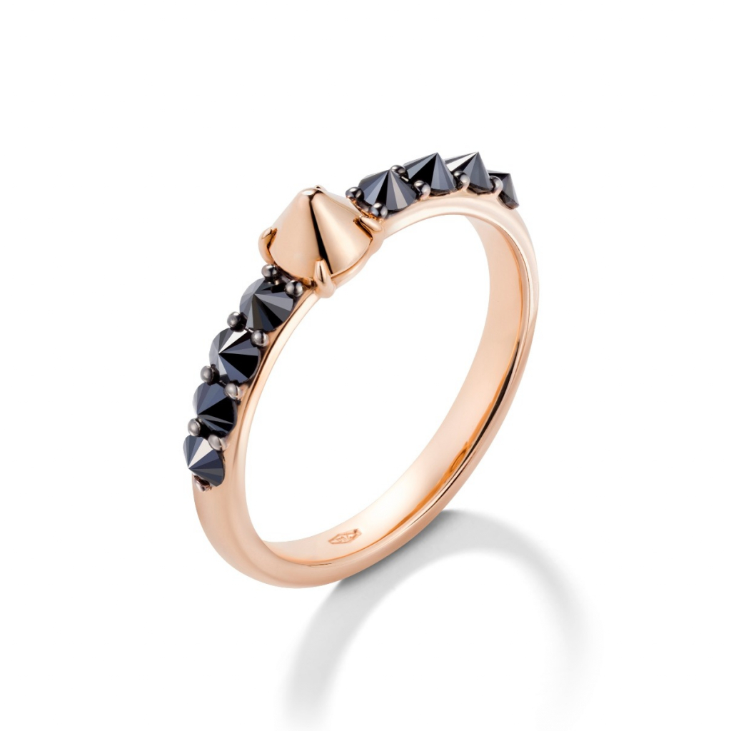 Ever ring in 18k gold with black diamonds, $1,520; email annalisa.dasilva@mattioli.it for purchase