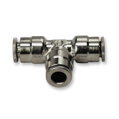 pneumatic 3-way t connector for .25 inch hose