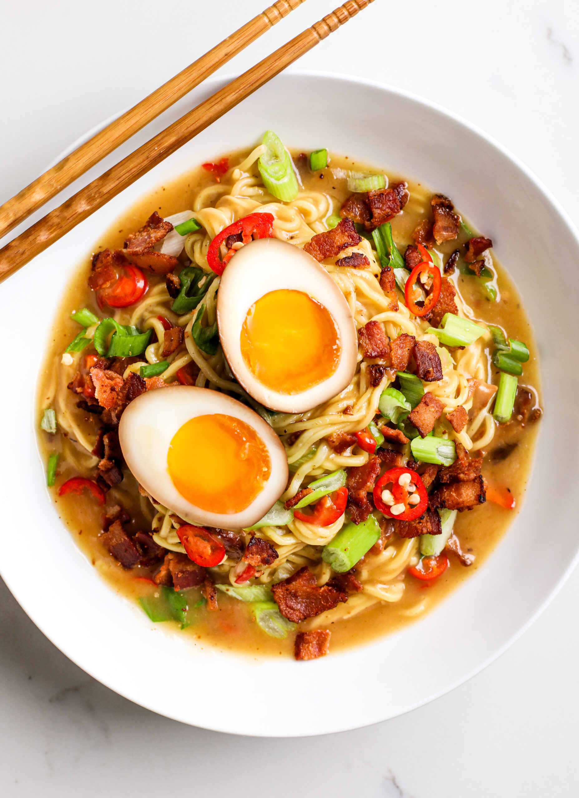 Spicy Bacon Breakfast Ramen