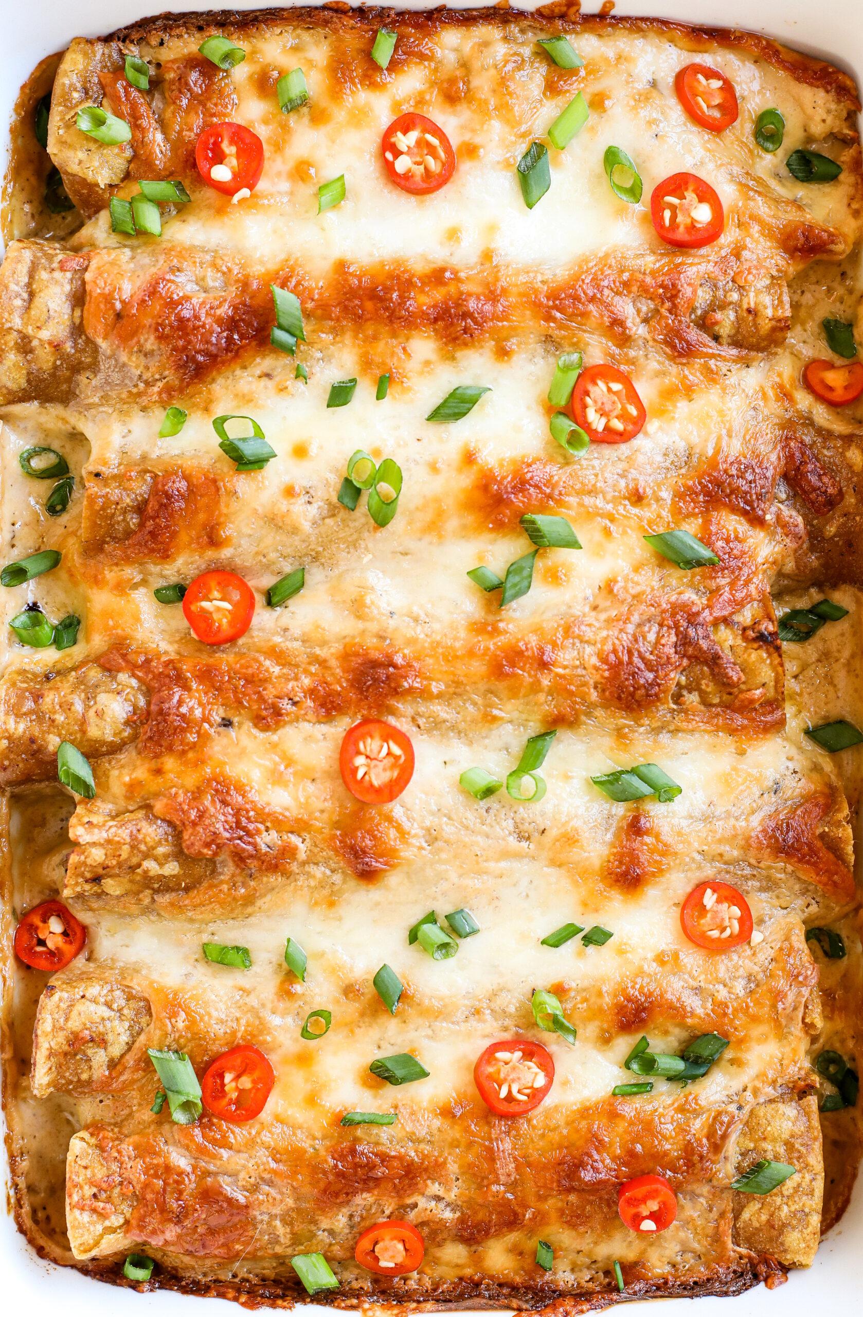 Jerk Chicken Enchiladas