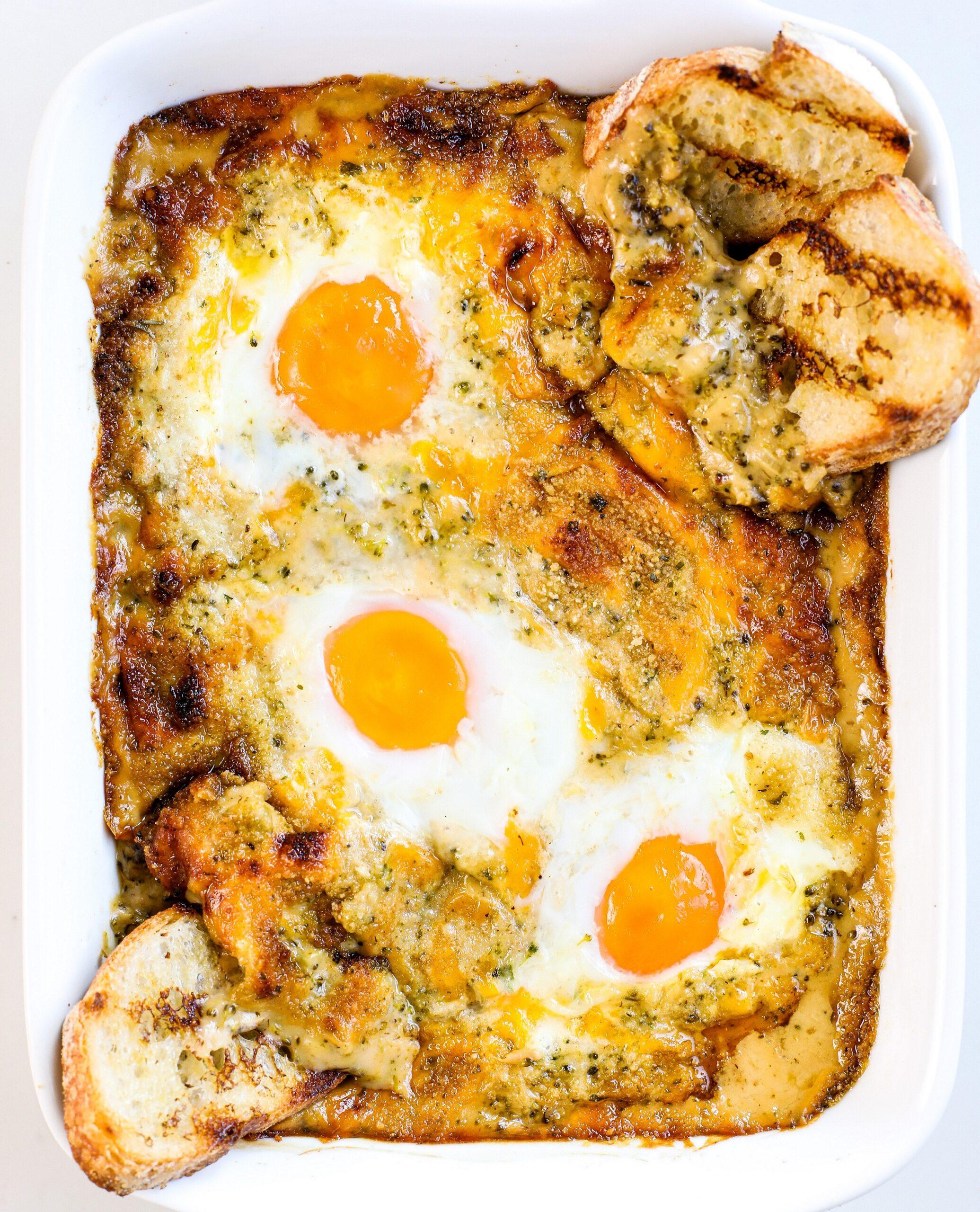 Cheesy Broccoli Eggs