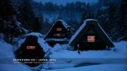 Historic villiage Shirakawa-go in winter's deep snow