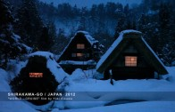 Historic villiage Shirakawa-go in winter's deep snow