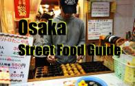 Street food guide to Dotonbori Osaka Japan