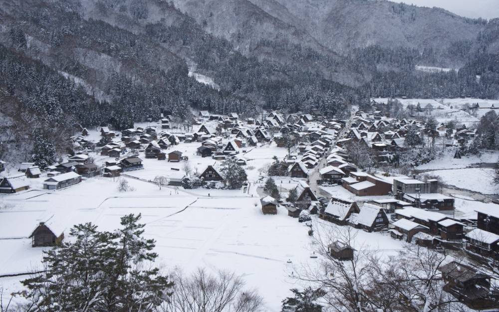 Shirakawa-go in Winter Snow