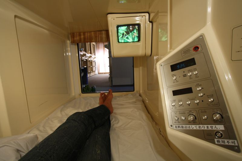 Capsule Hotel Room TV