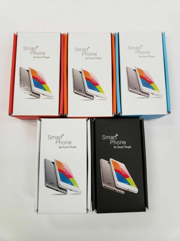 100 pcs of Cell phone Empty Boxes Printed Generic different colors Mix and Match