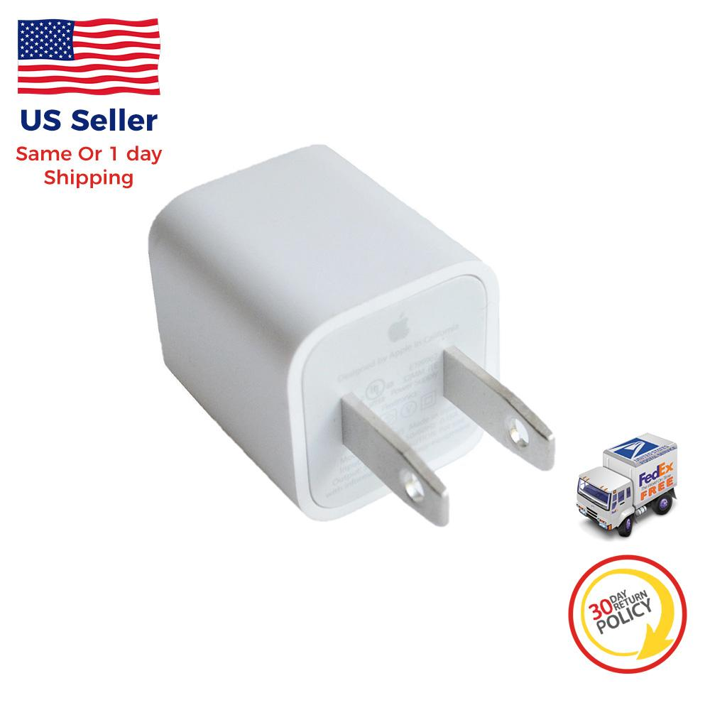 1X OEM Apple USB Wall Charger Cube AC Power Adapter for iPhone 7 8 X XS max XR