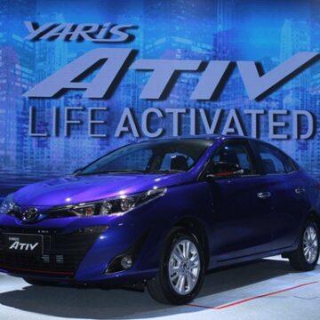 รถยนต์ใหม่ล่าสุด โตโยต้า Yaris  ATIV  เริ่มต้นที่ราคา 4 แสนกว่า