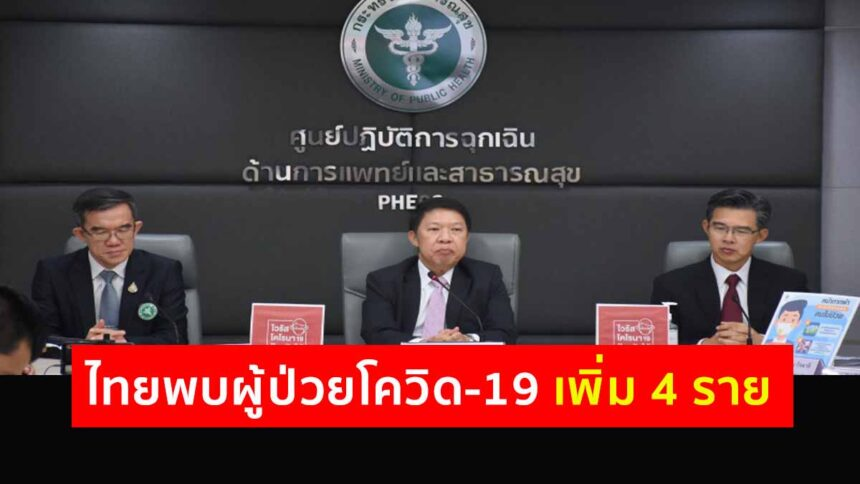 รายงานข่าวกรณีโรคติดเชื้อไวรัสโคโรนา 2019 (COVID-19) ประจำวันที่5 มีนาคม 2563