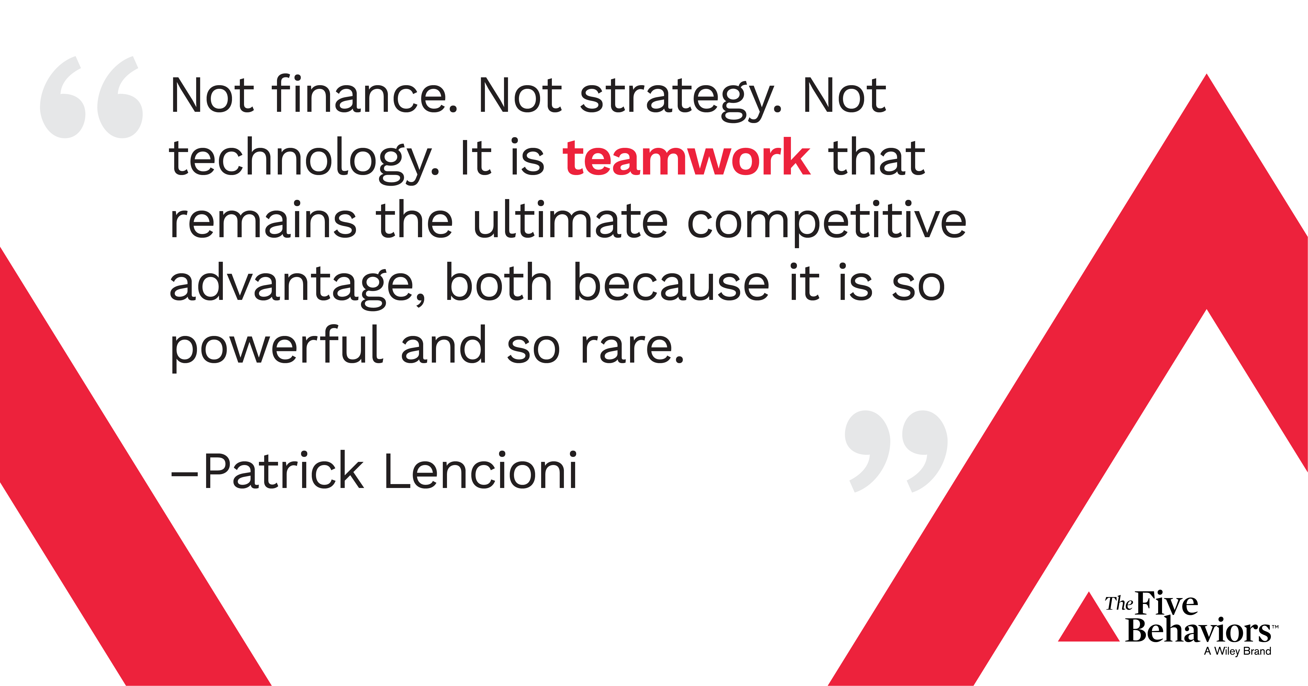 image of a quote from patrick lencioni