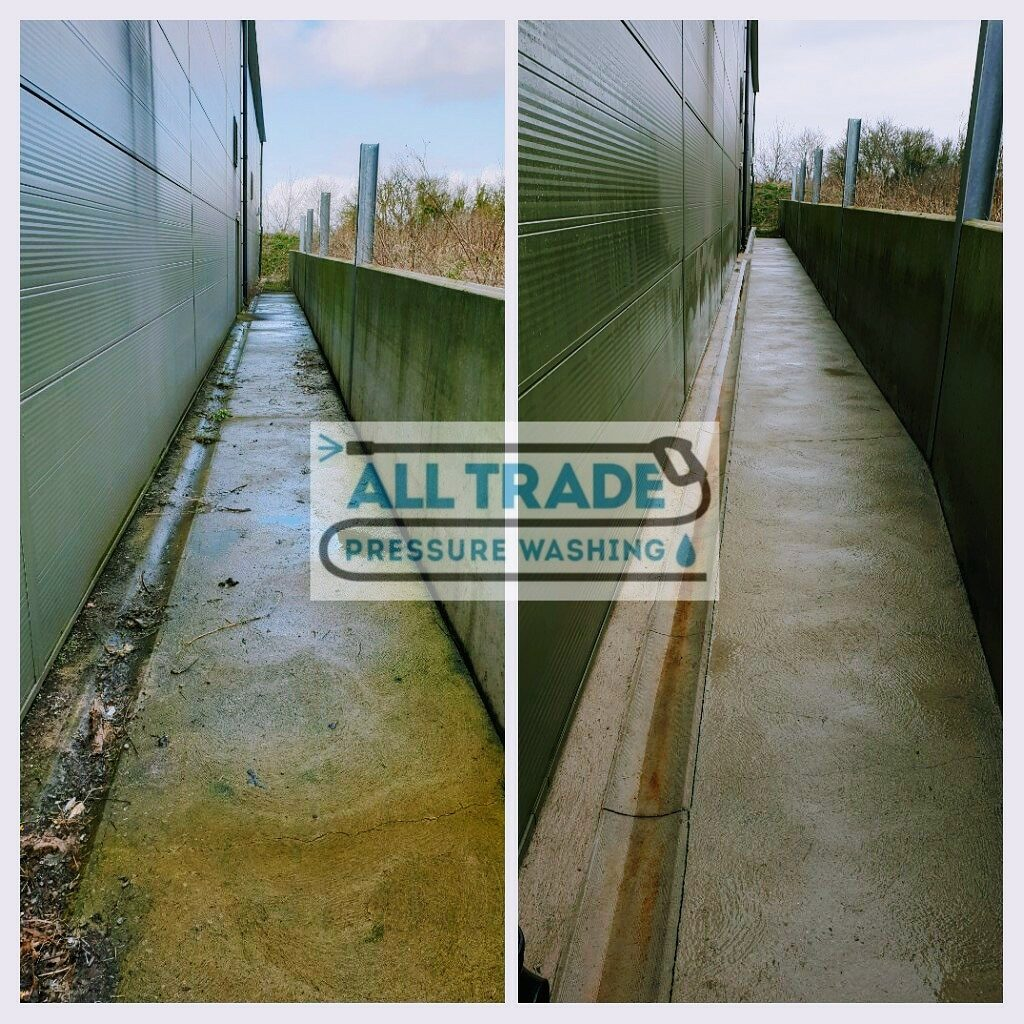 Alley way Pressure washing