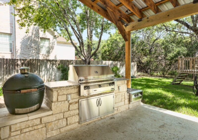 Cooley backyard day outdoor kitchen