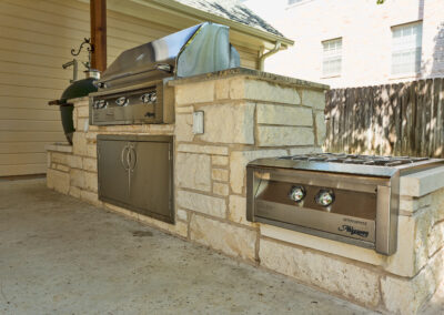 Cooley backyard day outdoor kitchen applinaces