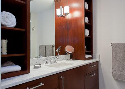 Sirhal master bath cabinet side view