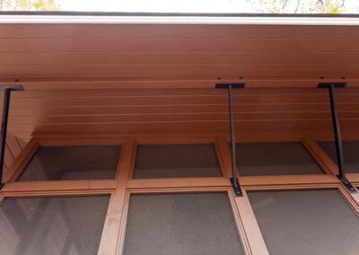 Weber back deck support detail