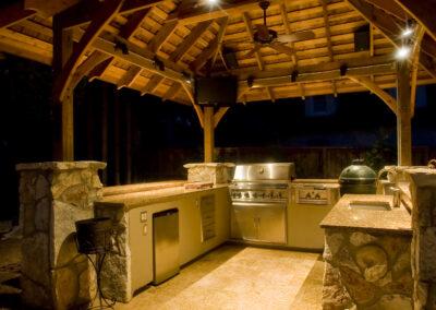 Willis outdoor kitchen kitchen night-2