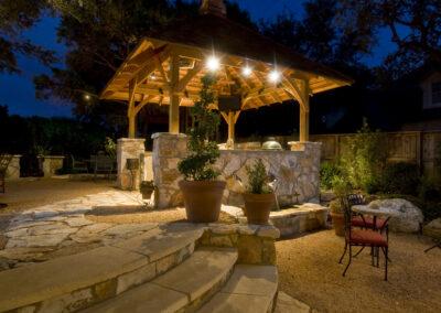 Willis outdoor kitchen kitchen night-3