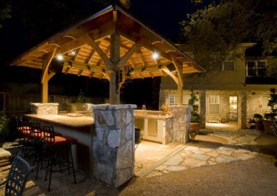 Willis outdoor kitchen kitchen night-4