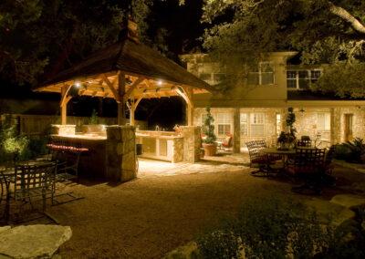 Willis outdoor kitchen kitchen night-6