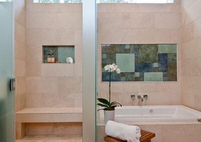 Zarling master bath MB open shower door