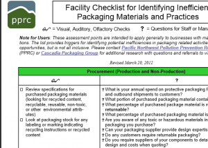 packaging checklist capture