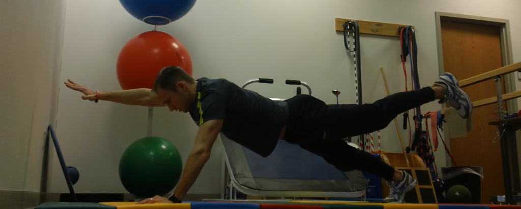 Front Hand Stand Plank - Opposite Hand Opposite Foot 2