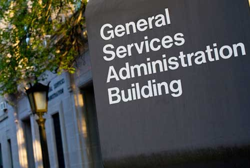 GSA General Services Administration Building Sign