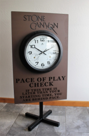 Pace of Play Sign -Westin Kierland