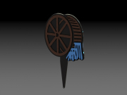 Green Brook CC Waterwheel Tee Marker