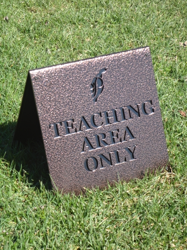 Golf Teaching Sign -Ptarmigan