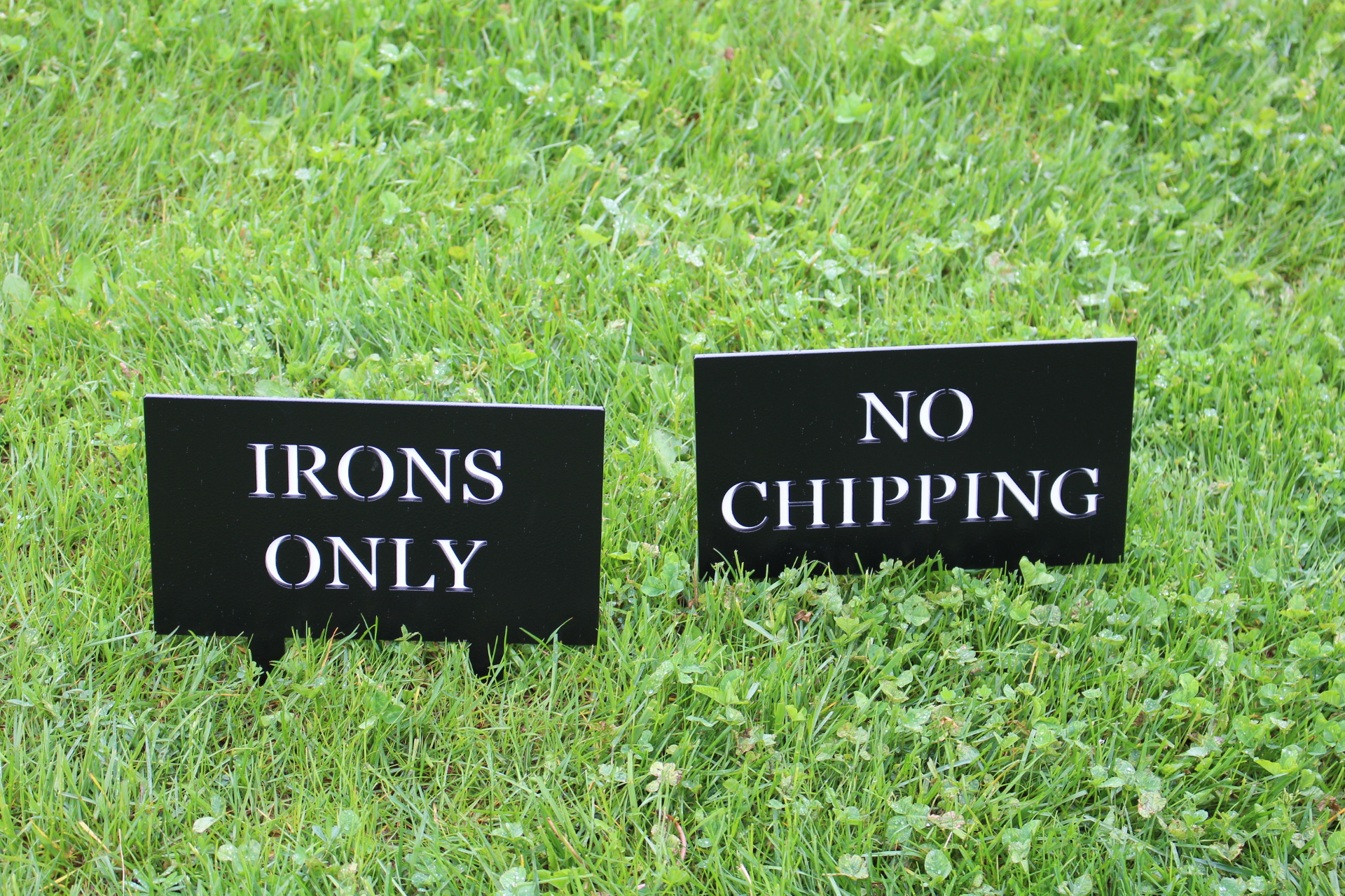IRONS-ONLY-CHIPPING-ONLY-SIGNS-COLUMBIA-EDGEWATER