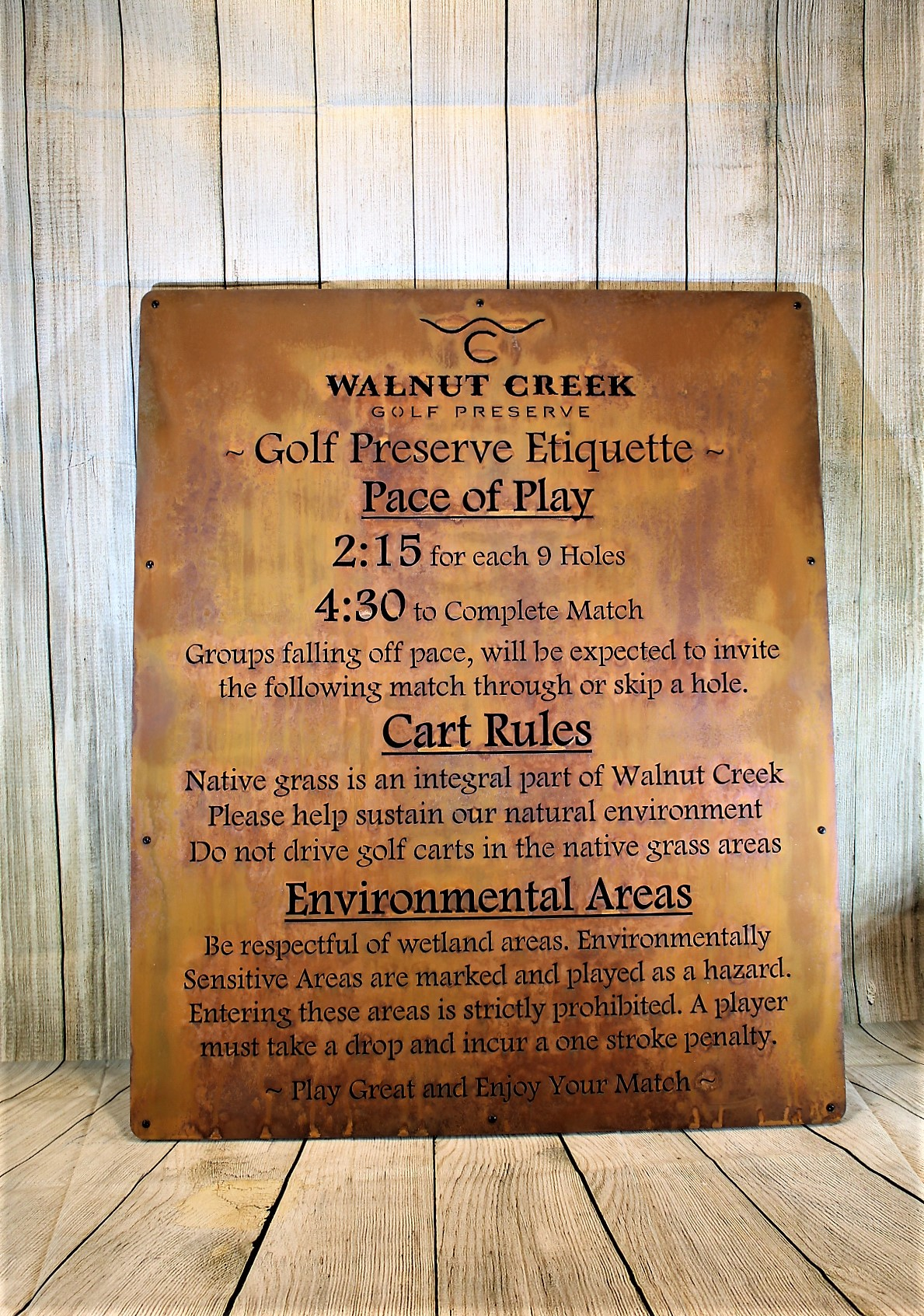 Informational Sign -Walnut Creek
