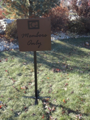 Custom Golf Course Directional Sign -Gallery