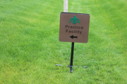 Golf Course Directional Signs CIRCLING RAVEN