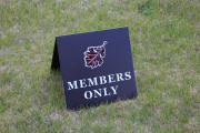 Members Only Sign -Jimmie Austin OU Golf CLub