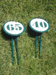 Small Yardage Signs with stakes