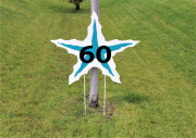 Starfish Yardage Hitting Target -BAKERS BAY DISCOVERY COURSE