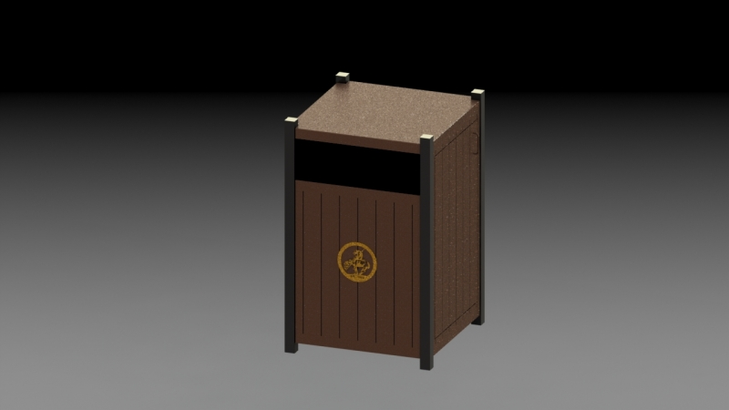 Teak Trash Can 1.1