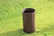 Paneled Garbage Can Enclosure